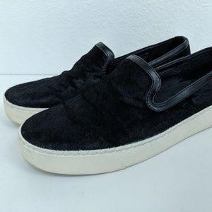 Sam Edelman Women Size 8 Becker Sneaker Black Fur